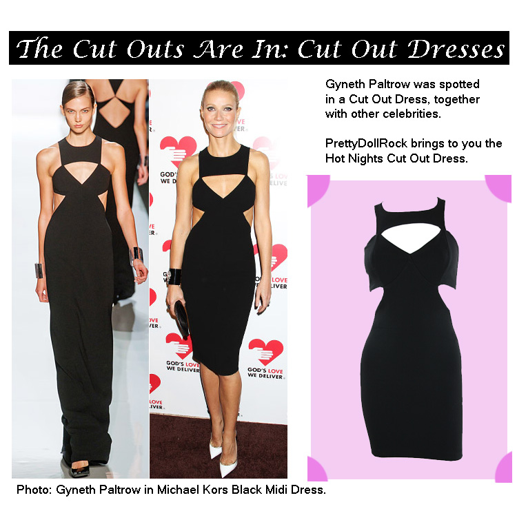 pretty doll rock blog, cut out dresses, black cut out dress