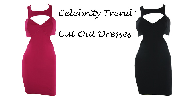 fushia pink cut out dresses, black cut out dresses, fall trend 2013, pretty doll rock blog, celebrity trend