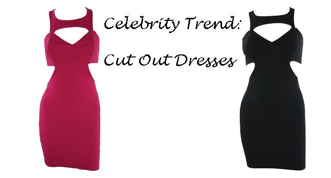 fushia pink cut out dresses, black cut out dresses, fall trend 2013, pretty doll rock blog, celebrity trend
