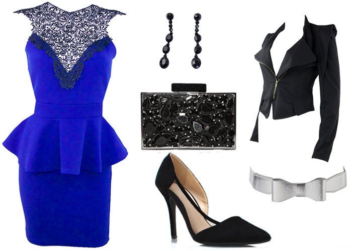 how to wear peplum dress, how to wear cobalt blue, pretty doll rock, blog